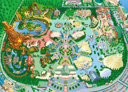 ビッグサンダーマウンテン地図