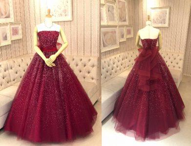 ルビーカラードレス
